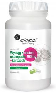 Aliness Milk thistle seed extract 190 mg  Artichoke extract