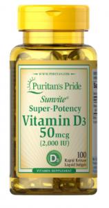Puritan's Pride Vitamin D3 50 mcg 2000 iu