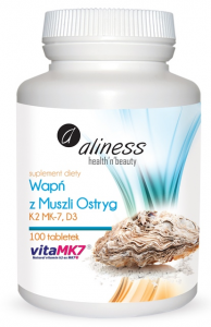 Aliness Calcium Oyster Shell with K2 MK7 and D3