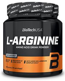 Biotech Usa L-Arginine Powder L-Arginīns Slāpekļa Oksīda Pastiprinātāji Aminoskābes