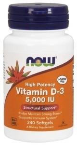 Now Foods Vitamin D-3 5000 IU Vitamīni Un Minerālvielas