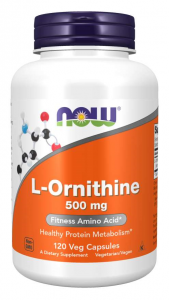 Now Foods L-Ornithine 500 mg Aminoskābes