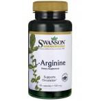 Swanson L-Arginine 500 mg Slāpekļa Oksīda Pastiprinātāji L-Arginīns Aminoskābes Pirms Treniņa Un Еnerģētiķi
