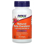 Now Foods Natural Beta Carotene 25000 iu