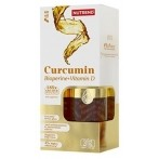 Nutrend Curcumin + Bioperine + Vitamin D Antioksidanti Vitamīni Un Minerālvielas