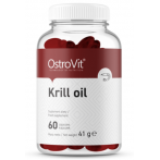 OstroVit Krill Oil Zivju Eļļa, Lineļļa Un Omega Taukskābes Vitamīni Un Minerālvielas