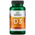 Swanson Vitamin D3 Vitamīni Un Minerālvielas