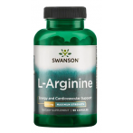 Swanson L-Arginine 850 mg Slāpekļa Oksīda Pastiprinātāji L-Arginīns Aminoskābes Pirms Treniņa Un Еnerģētiķi