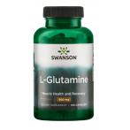 Swanson L-Glutamine 500 mg L-Glutamīns Aminoskābes Pēc Slodzes Un Reģenerācija